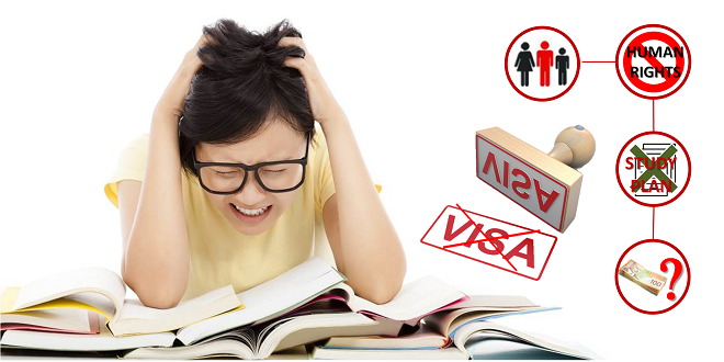 Rớt visa du học canada